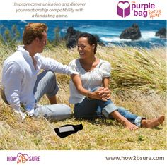 Relationship compatibility is discovered in this fun dating game. The Purple Bag Dating Game Floating Picture Frames, Relationship Compatibility, Baby Photos, Couple Photos, Improve Communication, Long Relationship, Dating Games, Getting To Know, Photo Contest