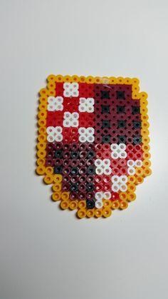 Harry Potter Crest perler decoration by JMGeekCraft on Etsy