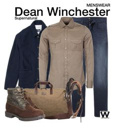 Supernatural by wearwhatyouwatch on Polyvore featuring UGG Australia, Gucci, Universal Works, Timberland, television, wearwhatyouwatch and menswear
