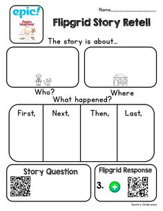 """""""My favorite is using and to promote literacy skills 📚 in my Ss. Ss read 📚 in Epic and take notes about 🔑 details and answer comp ❓s Ss 🎥 a retelling of story in using info from notes and with sentence frames Primary Classroom, Future Classroom, Google Classroom, Classroom Organization, Classroom Hacks, Apps For Teachers, Story Retell, Primary Resources, Classroom Language"""