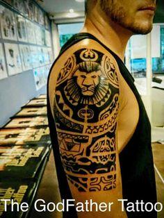 Lion maori tattoo