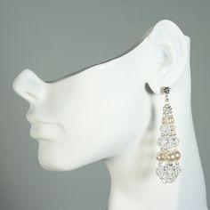 Swarovski Pearl & Crystal Bauble Earrings   Giavan