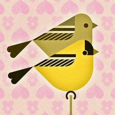 scott partridge - state bird and flower - New Jersey - Goldfinch and Violet