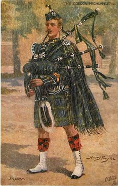 vintage postcards bagpipers | ... PAYNE-GORDON HIGHLANDERS-SC OTCH PIPERS-BRITISH ARMY-BAGPIPES- R82881