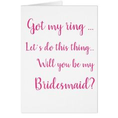 Will you be my bridesmaid maid of honor proposal card - wedding party gifts equipment accessories ideas