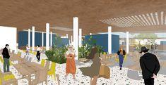 Coliving: Arca de NOE - Nuevas maneras de habitar. on Behance My Works, Behance, Architecture, Illustration, Decks, Buildings, Arquitetura, Illustrations, Architecture Design