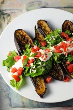 Thyme Roasted Eggplant Salad