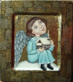 Катя Стриж Matthew Bible, Seraph Angel, Angel Illustration, Angel Artwork, Ceramic Angels, Tin Art, Naive Art, Sacred Art, Creature Design