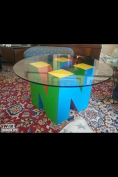 Nintendo Table - Perfect game room decor!!!!
