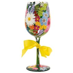 Lolita Floral Wine Glass