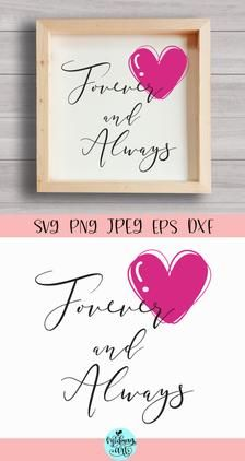 Forever and always wood sign svg valentines day sign svg | Etsy Christmas Quotes, Christmas Svg, Craft Stickers, Love Signs, Pattern And Decoration, Journal Cards, Svg Files For Cricut, Design Bundles, Valentines