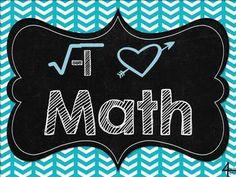 FREE I Love Math Poster