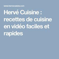 Hervé Cuisine : recettes de cuisine en vidéo faciles et rapides