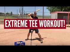 Extreme Baseball Tee Workout for Hitters! The batting tee is an old-school tool, but MLB players hit off them every single day. Try this extreme baseball tee. Softball Workouts, Softball Drills, Softball Coach, Baseball Tips, Baseball Quotes, Baseball Hitting Drills, Agility Workouts, Backyard Baseball, Batting Tee