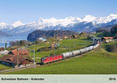 Schweizer - Bahnen Kalender 2016