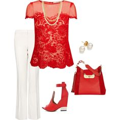 """""""Red and White"""" by maryb-87 on Polyvore"""