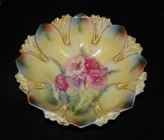 """RS Prussia Porcelain Serving Bowl Circa 1890 10""""  I have this that belonged to my great grandmother .Mary T."""