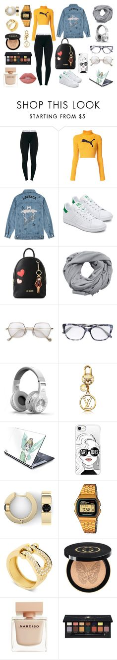 """""""Sans titre #52"""" by sheimabidi on Polyvore featuring mode, Puma, Être Cécile, Love Moschino, MANGO, Casetify, Casio, Fred, Gucci et Narciso Rodriguez"""