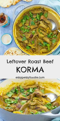 A deliciously easy way to use up your roast beef leftovers, this Leftover Roast Beef Korma can be whipped up in under 30 minutes – perfect for busy weeknights! No leftovers? No problem! This easy korma can be made with rump steak instead. Leftover Beef Recipes, Leftover Roast Beef, Roast Beef Recipes, Leftovers Recipes, Easy Dinner Recipes, Lamb Recipes, Tofu Recipes, Curry Recipes, Free Recipes
