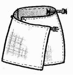Reversible skirt tutorial in Japanese