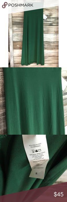 LuLaRoe Solid Green Maxi Skirt LuLaRoe Solid Green Maxi Skirt. Soft and slinky material. LuLaRoe Skirts Maxi