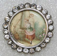 Button  Date:     ca. 1775 Culture:     French Medium:     ivory, metal, strass Dimensions:     [no dimension available] Credit Line:     From the Hanna S. Kohn Collection, 1951