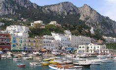 Capri, Italy. (From: 40 Islands You'd Love To Be Stranded On)