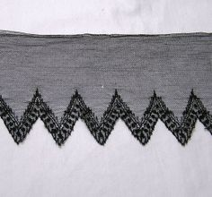Antique Delicate Black Needle on Net Lace 25 by VictorianWardrobe, $10.00