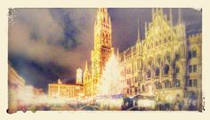 201112141924c01-PANO-EFFECTS - #GoogleEffects of some #photos merged together by Google to provide a wider view of the #ChristmasMarket in #Munich. - #holiday #travel #Bavaria #Germany
