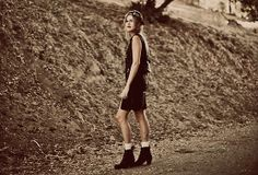 Acne Boots, Tunnel Vision Dress, Tunnel Vision Hat, Tunnel Vision Vest