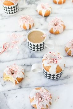 candy cane mini donuts.