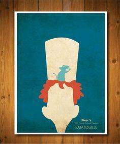 Minimalist pixar posters