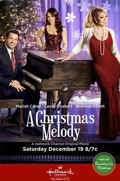 A Christmas Melody - A gift of music transports people back to another time and place where they find their truest feelings. Starring Mariah Carey, Lacey Chabert and Brennan Elliott Best Hallmark Christmas Movies, Xmas Movies, 2015 Movies, Family Movies, Great Movies, Holiday Movies, Funny Movies, Watch Movies, Películas Hallmark