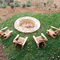 firepit - backyard dreaming & scheming love how it's in the ground and not raised