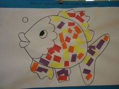 learn to cut, glue and tear The most beautiful fish in the sea / Marc – Knippen Happy Birthday Mother, Art For Kids, Crafts For Kids, Dorm Art, Apple Books, Beautiful Fish, Sea Fish, First Day Of School, Cat Toys