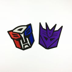 Transformers Logo Optimus Prime Autobot Decepticon Embroidered Hook Patch B6