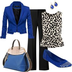 This would look super cute with a black skirt minus the accessories. :)