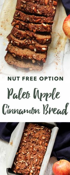 Paleo Apple Cinnamon Bread recipe | Empowered Sustenance