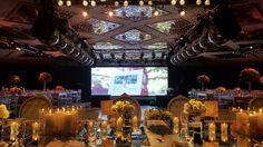 Vista desde la Mesa Principal, Pantalla con apertura.Fiesta de 15 Organizada por Maria Ines Novegil Event Planners en Hotel Four Seasons Buenos Aires