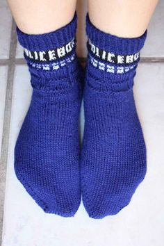 Tardis Socks Someday I will overcome my fear of sock knitting