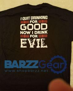 BARZZ T - Quit Drinking...  #beer #cocktail #weekend #barzznet #salboken #bartender #mancave #beach #happyhour #barzz @barzz