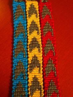Starfleet+Insignia+Friendship+Bracelet+by+cryceratops+on+Etsy,+$4.50