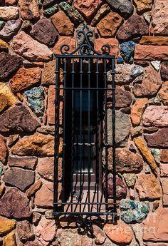 Ornate Rock Church Window - Cedar City - Utah