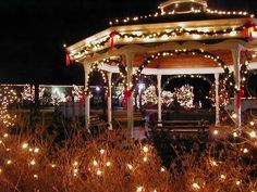 Gazebo at Christmas Collierville TN