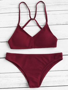 Shop Push Up Strappy Back Bikini Set online. SheIn offers Push Up Strappy Back Bikini Set & more to fit your fashionable needs.