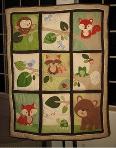 baby shower woodland animal theme | Next, my woodland animals comforter was set up on display next to the ...