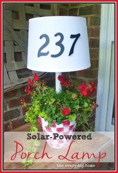 Porch Light Planter by The Everyday Home  www.everydayhomeblog.com
