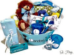 Personalized Baby Boy Shower Gift - how cute is that?? This would be cute for…