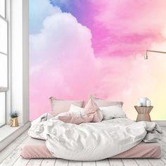 pastel peel nursery stick galaxy bedroom cloud removable mural gradient colored rainbow erpaycambalkon neon prej guardado desde