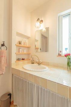 【アイジースタイルハウス】洗面。こだわりのタイルとシンクで造るオリジナル洗面台